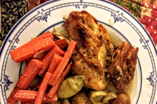 Meals for Mom - Chicken with Artichokes and Brown Butter Carrots