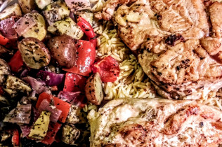 Caprese Chicken, Orzo, Med. Vegetagles - Meals for Mom